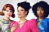 Ginnifer Goodwin, Lucy Liu and Kirby Howell-Baptiste in <i>Why Women Kill</i>.