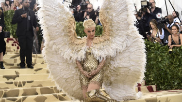 Katy Perry has taken inspiration from her angelic Met Gala costume and reached out to Taylor Swift
