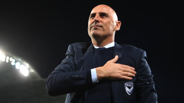 Victory, heart and soul: Kevin Muscat says farewell on Wednesday night.