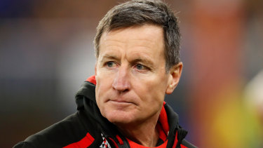 John Worsfold will handover the reins as Essendon coach at the end of this season.