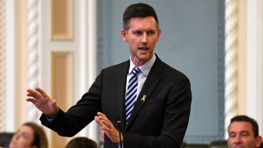 Acting Health Minister Mark Bailey.