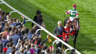 Fewer than 25,000 punters were on hand to see Lys Gracieux's Cox Plate win.