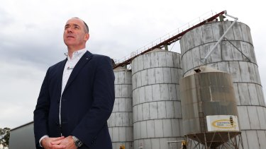 Andrew Thorburn at Croker Grain in Marrar near Wagga Wagga.