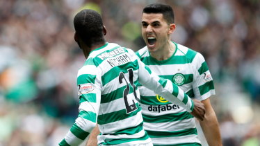 Wanted man: Tom Rogic is a transfer target of Southampton and Leicester.
