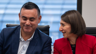 Squabbling siblings: National leader John Barilaro has put the Liberals, led by NSW Premier Gladys Berejiklian, on notice.