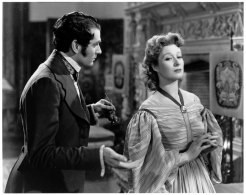 Laurence Olivier as Mr Darcy and Greer Garson as Elizabeth Bennet in the 1940s film version of Pride and Prejudice