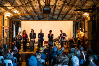 Ensemble Offspring on stage at Cowra leads its end-of-financial-year funding-raising drive.