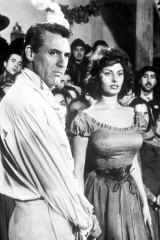 With Cary Grant in The Pride and the Passion.