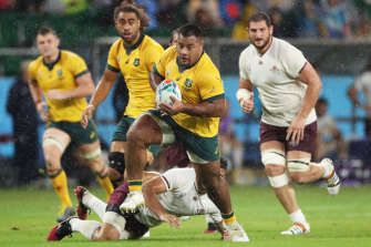 Tupou gave a glimpse of why he is the highest-paid prop in Australian history.
