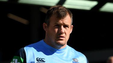 Wonderful to be back: Josh Morris in NSW Origin camp.