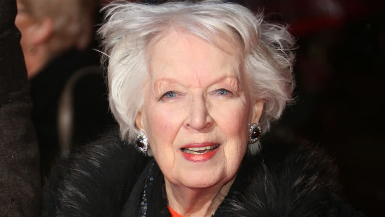 June Whitfield  at the Odeon Leicester Square, London, 2013.
