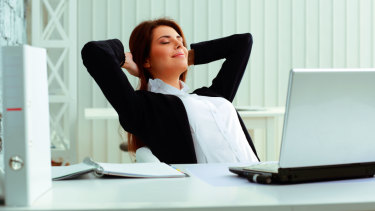 Exercise can help make you feel calmer at work.