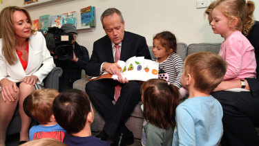 "Bill Shorten has promised a 20 per cent pay rise for childcare workers, who are ""underpaid"" and ""highly trained""."