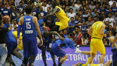 f3a0d7b56 Basketball Australia awaits penalties after brawl with Philippines