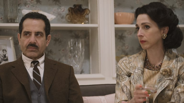 Abe (Tony Shalhoub) and Rose (Marin Hinkle) Weissman, Midge's parents, neighbours and willing babysitters.
