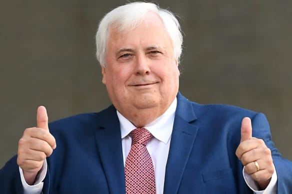 Clive Palmer has embarked on a massive radio, print and television ad campaign ahead of the election.