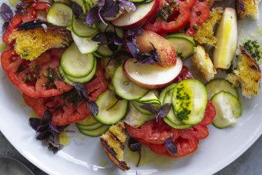 Panzanella-ish salad