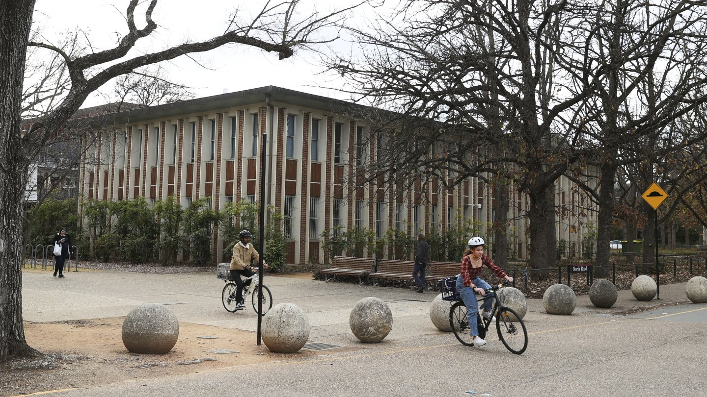 The Australian National University campus this week. Universities are about to face a few years of financial pain.