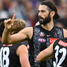 Brodie Grundy is set to return for Robert Harvey's first game in charge of the Magpies.