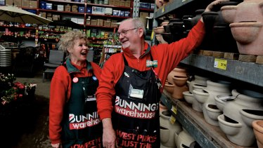 Bunnings has a reputation for offering jobs to older people.