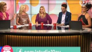 The debate raged on Studio 10 between Kerri-Anne Kennerley andpanellist Yumi Stynes.