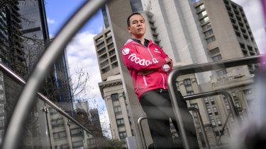 Former Foodora delivery rider Icce Mejia.