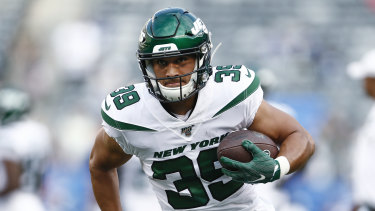Valentine Holmes has been switched from running back to wide receiver with the Jets' practice squad.