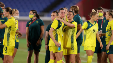 The Matildas after the match.