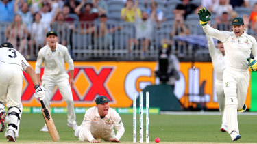 It was close, but Ross Taylor made his mark safely much earlier in his innings.