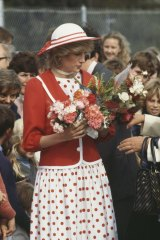 Princess Diana, winning hearts during her first tour of Australia, in 1983.