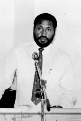 "Chris Haiveta in 1995. Haiveta was described as a ""lickspittle"" of former PNG leader, Sir Julius Chan."