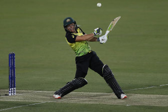 Healy is renowned for her powerhouse batting. She says there's no better feeling than smacking a fast bowler back down the ground.