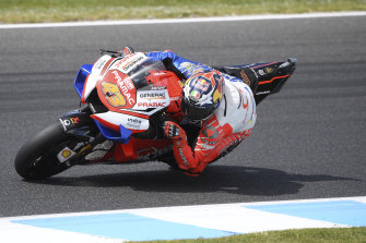 Jack Miller in action during free practice.