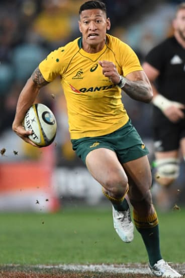 On the fly: The Wallabies could do worse than get the ball in the hands of Israel Folau as often as possible.