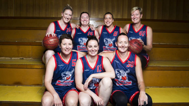 "The ""Capasauras"" team of WNBL champions is dominating the Basketball ACT competition."