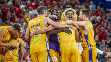 All in: A last ditch comeback win over league leaders Perth Wildcats was a massive confidence boost for Sydney.
