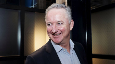 Nine CEO Hugh Marks after Fairfax shareholders voted for the merger with Nine.