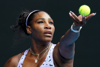Serena Williams was always in control against Anastasia Potapova in their first-round match on Monday.