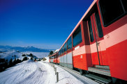 Riding the spectacular rack railway up Rigi from Vitznau