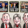 Anthony Albanese, Penny Wong, Jim Chalmers.