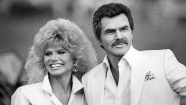 Burt Reynolds and Loni Anderson in Boca Raton, Florida, in 1987.