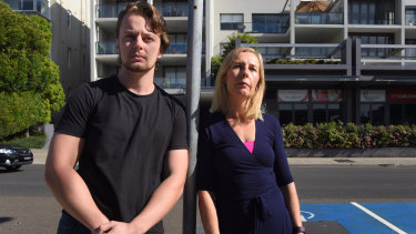 Alix Magney, pictured with son Willem, said Coogee had well-documented problems with excessive alcohol consumption.