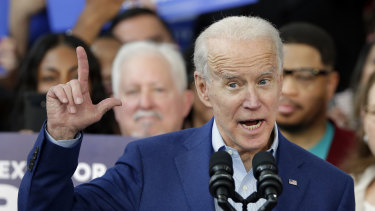 Democratic presidential candidate former vice-president Joe Biden.