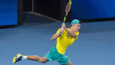 De Minaur played a dominant first set against Nadal.