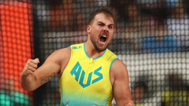 Matthew Denny has shown tremendous promise for the future after his effort in the discus final.