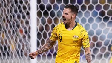 Socceroos striker Jamie Maclaren.