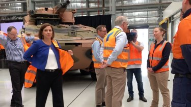 LNP leader Deb Frecklington was not invited to ride in a tank with the Prime Minister on Sunday, but 11 others were.