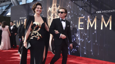 Mary Elizabeth Winstead and Ewan McGregor arrive at the 73rd Primetime Emmy Awards in Los Angeles.