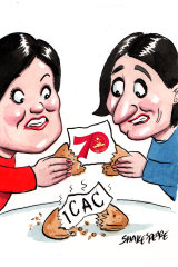 Gladys Berejiklian and Jodi McKay have been invited to a special cocktail event. Illustration: John Shakespeare