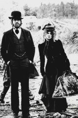 Warren Beatty and Julie Christie in McCabe and Mrs Miller, the first R-rated film to be released in Australia.